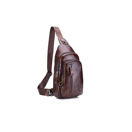 Amazon.com: Sling Bag, charminer piel Pecho Bolso Bandolera ...