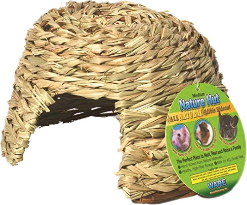 Ware Manufacturing Natural Willow and Grass Pet Hut for Small Pets, Medium (Grass Willow)