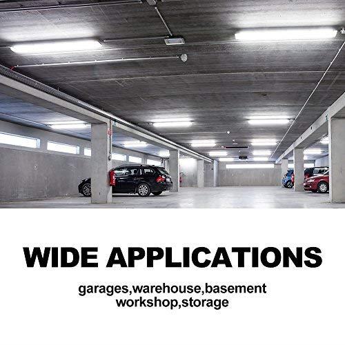 42W Linkable LED Shop Light for Garage BBOUNDER 4FT 5000K LED Work Shop Light LED Utility Shop Light Ceiling Fixture (12 Pack) by BBOUNDER (Image #6)