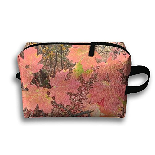 Canyon Maple In Swan Valley Oxford Fabric Makeup Bag Multi-function Bag For Toiletry And Skincare Water - Valley Oxford