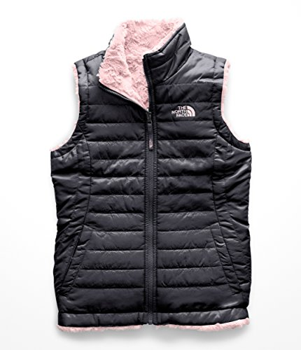 (The North Face Kids Girl's Reversible Mossbud Swirl Vest (Little Kids/Big Kids) Periscope Grey Medium)