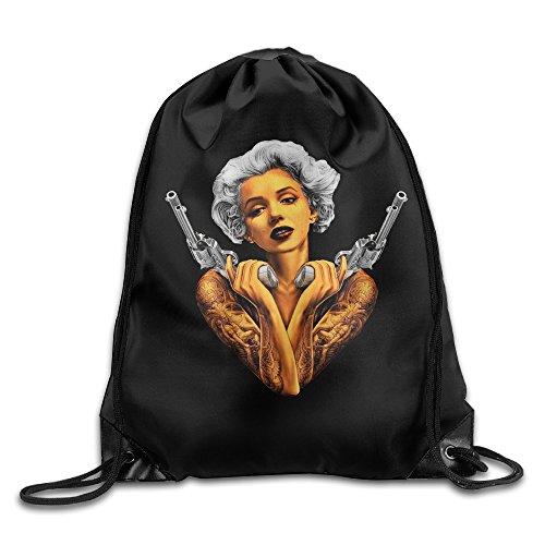 Carina Monroe Marilyn Tattoo Guns 1 Personality Port Bag One (Warhol Monroe Costume)