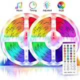 Led Strip Lights, Boyko 32.8ft RGB Led Strips 40Key, Sync to Music Color Changing Lights, IR Remote Controller DC12V 5A Power Supply, 300 SMD 5050 Flexible Strips for Home Festival Party Decoration