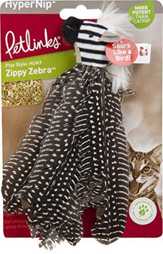 DPD Hypernip Zippy Zebra Feathers Cat Toy 2 - Zebra Cat