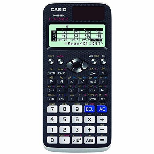 Casio FX-991EX-S-MH Calculadora Científica, Color Blanco/Negro