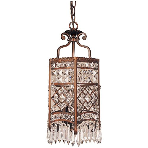 Bel Air Lighting 3-light Rubbed Oil Bronze Crystal Pendant