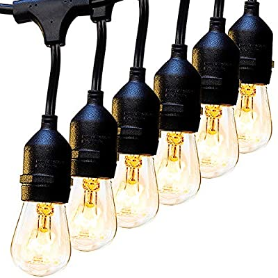 addlon 2 Pack 48FT Outdoor String Lights with 15 sockets