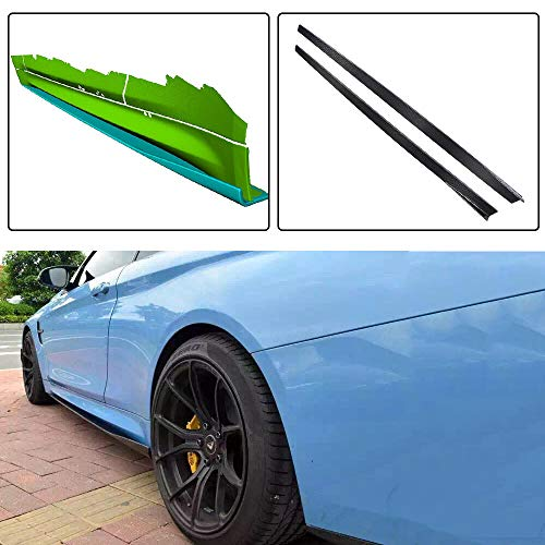 (JC SPORTLINE F82 M4 CF Side Skirts, fits BMW 4 Series F82 M4 Coupe 2014-2018 Carbon Fiber Extension Lip Bottom Line Trims Kits)