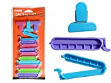 13 PC Bag Clips in Assorted Sizes & Colors , Case of 96