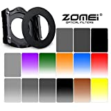 Zomei 17 in 1 Square Z-PRO Series Filter Holder Support + Adapter Ring 72mm+Gradual grey ND4+Gradual grey ND2+Gradual grey ND4+Gradual grey ND8+Gradual grey ND16+Gradualbule+Gradual red+Gradual Orange+Gradual tea+Gradual Yellow+Gradual Green +Gradual Violet +ND2 +ND4+ND8+ND16 145*100