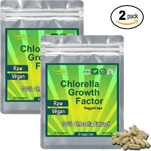 CHLORELLA EXTRACT Growth Factor 100x Concentrate – 100 LB of Chlorella 1 LB of Chlorella Extract CGF Powder. Only Take One a Day Raw Vegan Organic Non-GMO Chlorophyl Green Superfood in VegiCaps 2