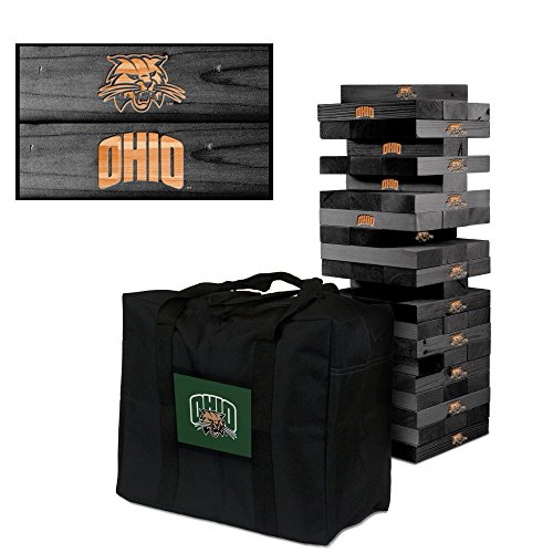 NCAA Ohio Bobcats 911107Ohio University Bobcats Onyx Stained Giant Wooden Tumble Tower Game, Multicolor, One Size by Victory Tailgate