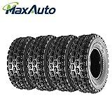 Set of 4 MaxAuto 22x7-10 Front Sport ATV Tires 22x7x10 4-Ply