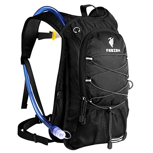Feezen Insulated Hydration Backpack Pack with 2L BPA Free Bladder – Keeps Liquid Cool up to 4 Hours – for Running, Hiking, Cycling, Camping