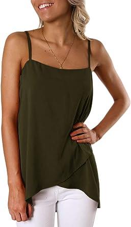 Happy Sailed Womens Casual Adjustable Shoulder Strap Tank Top