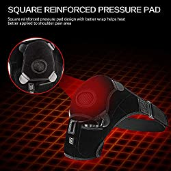 Heated Shoulder Wrap Brace,Portable Electric 3 Heating Setting Wireless Infrared Pad Strap with Hot&Cold Therapy for Rotator Cuff, Frozen Shoulder,Relax Muscle Pain Relief Shoulder Compression Sleeve