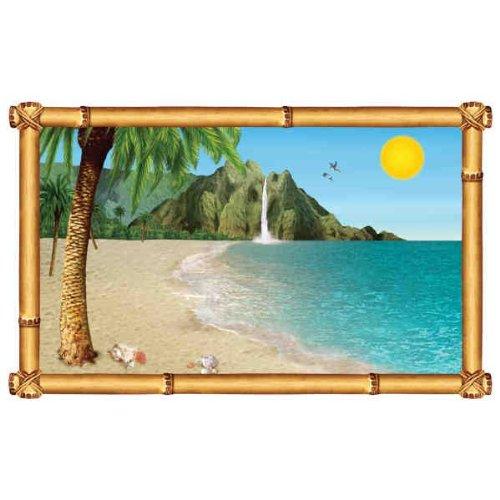 Tropical Beach Insta-View Scene Setter (1 per package)
