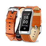 Rumas Y2 Colored Screen Smart Watch for Women Men, Non Camera 0.96 Inch LCD 4.0 BLE, Waterproof Sport Activity Minitor (Orange)