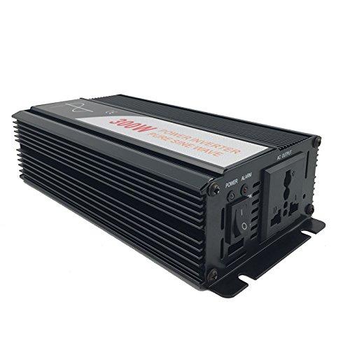 Xijia 300W (Peak 600W) Pure Sine Wave power Inverter DC 12V 24V 48V to AC 120V 50HZ Solar converter For Home Use car (DC 24V to AC 120V) by Xijia