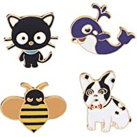 Oaonnea Enamel Brooch Pin Set Cute Brooches Patches for Clothes/Bags/Backpacks/Jackets