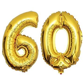 DekoRex® 60 Globo en Oro 80cm de Alto decoración cumpleaños ...