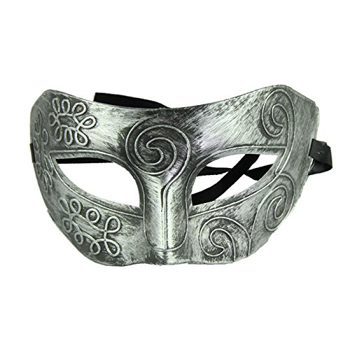 Roman Gladiator Costume Pattern (Baomabao Retro Roman Gladiator Halloween Party Facial Masquerade Mask - Silver)