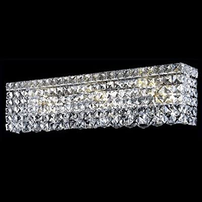Maxim 4 Light Wall Sconce Crystal Grade: Royal Cut, Crystal Color: Crystal Clear