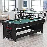 Fat Cat 7 ft. Black Pockey Table - Billiard & Air Hockey