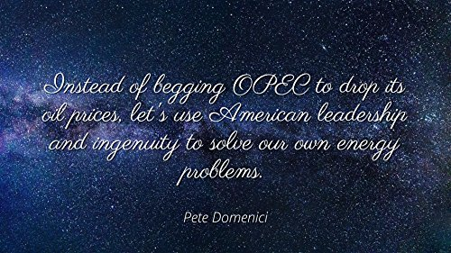 Pete Domenici - Famous Quotes Laminated POSTER PRINT 17X11 - Instead of begging OPEC to drop its oil prices, let's use American leadership and ingenuity to solve our own energy problems.