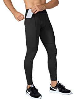 5054f1eb909cd Lavento Men's Compression Pants Pocket Baselayer Cool Dry Ankle Leggings  Active Tights