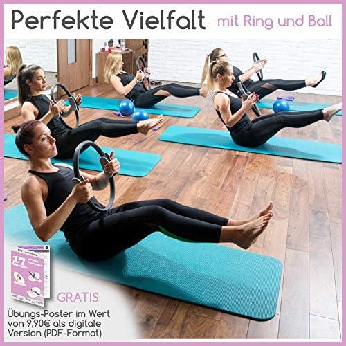 Pilates Ball Stabilit/ätsring/&2 einstellbaren Widerstandsb/ändern f/ür jedes Fitnesslevel RGGD/&RGGL Gymnastikball 1,5-mal Gymnastikball f/ür Zuhause/&Fitnessstudio /&B/üro/&Schwangerschaft