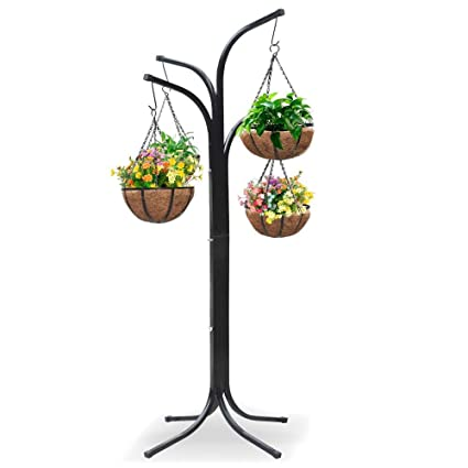 Ordinaire Yaheetech 4 Arm Tree With 4 Hanging Baskets Patio Stand Garden Plant