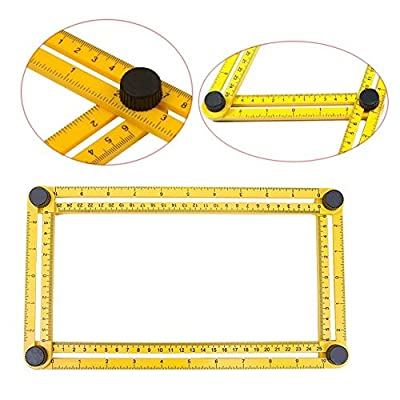 Angle Measurement Tool - Angleizer Tile & Flooring Template Measure Ruler and Layout Tools for Handymen, Builders, Craftsmen and DIY-ers by RONNOY