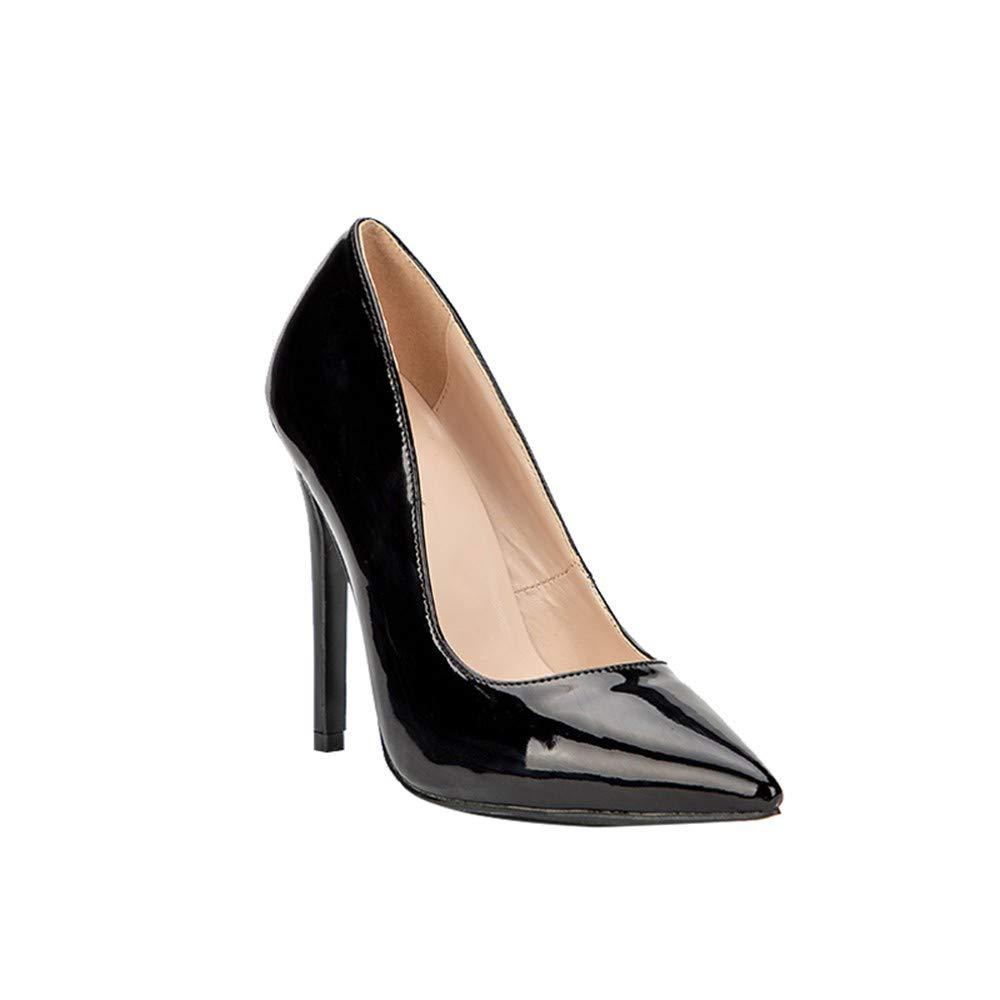NAFTY Damenschuhe Stiefel Grundlegende Frau Leder Pumps High Heels Flache Bürodame Concise Thin Heels Damenschuhe