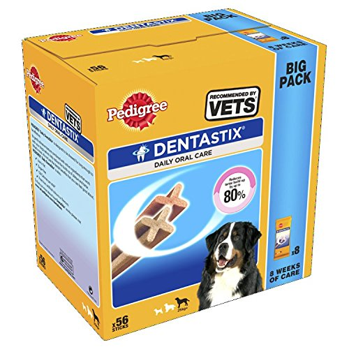 Pedigree Dentastix Diario Oral Cuidado Dental Masticables, GRANDE PERRO 56 palitos, pack de 1: Amazon.es: Ropa y accesorios