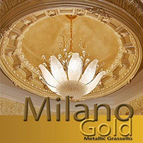 Milano Gold Metallic (Fine) Authentic Venetian Metallic Plaster from Italy. The ultimate in luxury finishes. by FirmoLux
