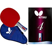 Butterfly 401 Table Tennis Racket Set - 1 Ping Pong Paddle – 1 Ping Pong Paddle Case - ITTF Approved Table Tennis Paddle…