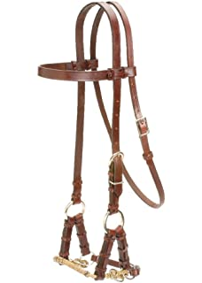 Amazon weaver horse leather side pull bridle western tack the colorado saddlery braided nose side pull bridles fandeluxe Gallery