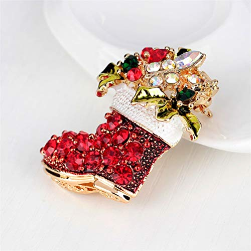 hion Zinc Alloy Rhinestone Vintage Female Red Boots Brooches Pins Shoes - Silver Presents Gold Ribbons Small Storage Earrings Wreaths Tree Plastic Dogs Tags Decoration Hair ()