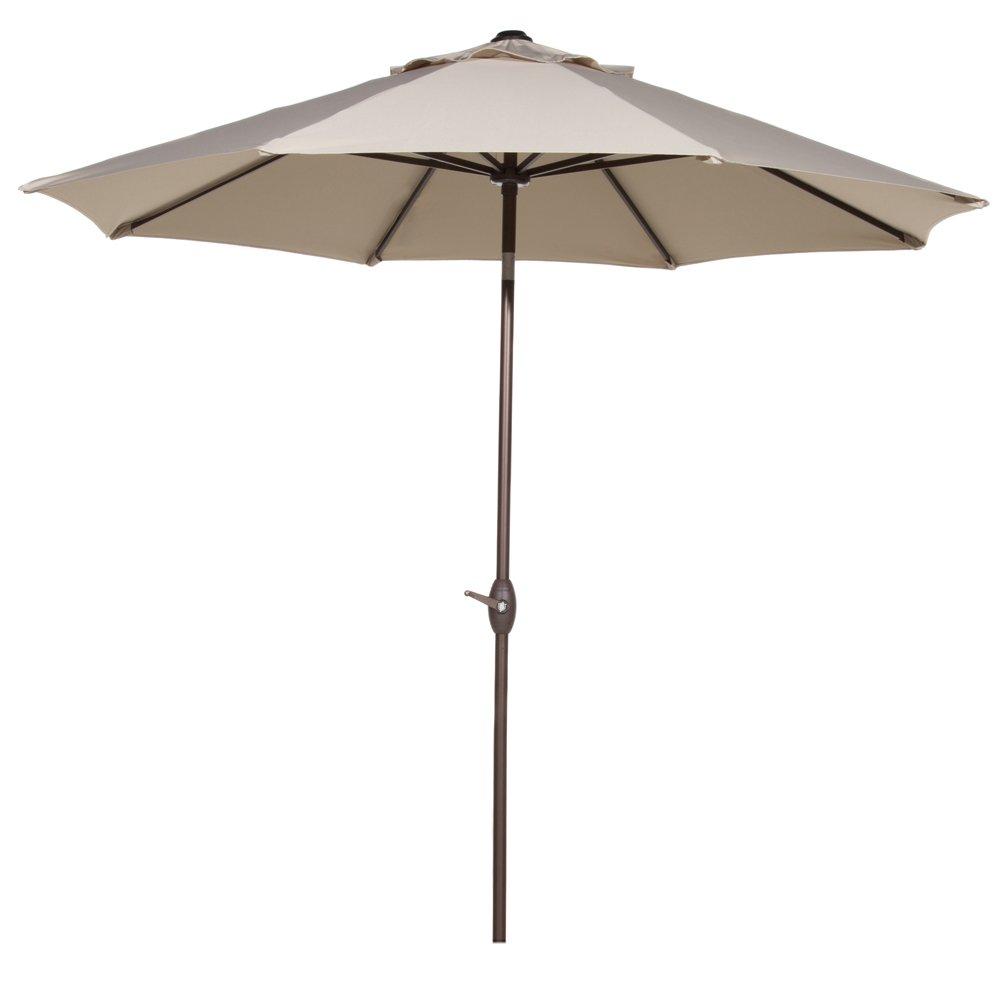 11ft patio umbrella outdoor market umbrella with push button tilt crank 8 ribs ebay. Black Bedroom Furniture Sets. Home Design Ideas