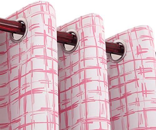 Editors' Choice: Deconovo Decorative quare Sketch Print Curtains Darkening Thermal Insulated Blackout Panels