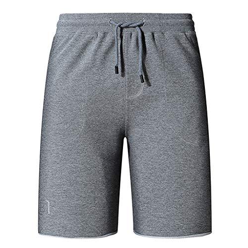 Men's Running Shorts Loose Drawstring Workout Shorts Active Training Shorts Gray ()