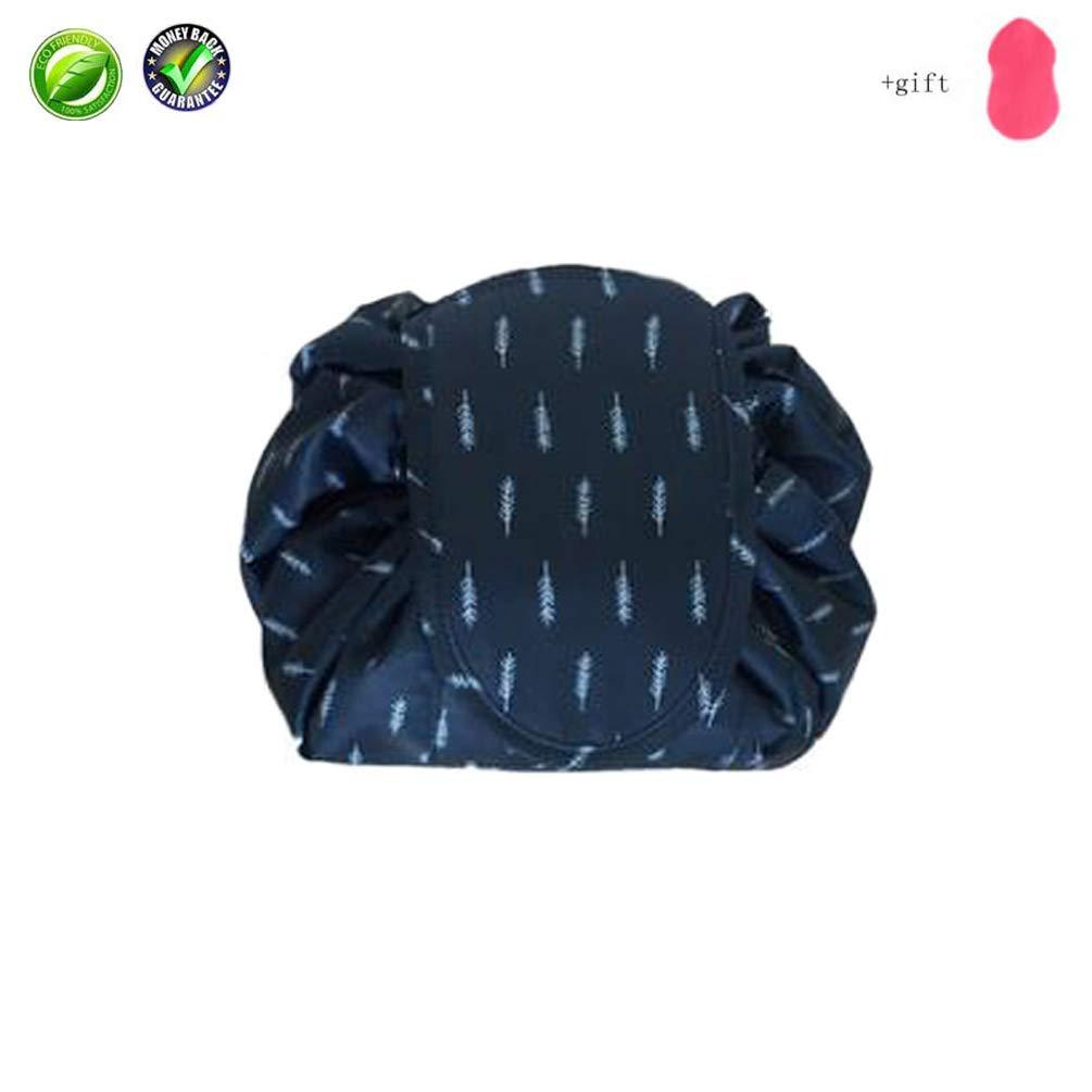 Lazy Drawstrings Bag Waterproof Cosmetic Brushes Organizer for Women Girls