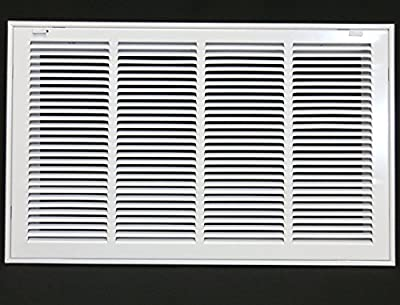 "24"" X 18 Steel Return Air Filter Grille for 1"" Filter - Removable Face/Door - HVAC DUCT COVER - Flat Stamped Face - [Outer Dimensions: 26.5""w X 20.5""h]"