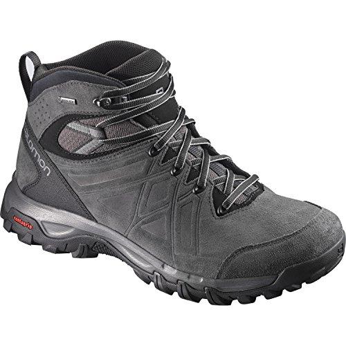 Salomon Herren Evasion 2 Mid LTR GTX Hiking- und Multifunktionsschuhe, Synthetik/Textil Grau (Magnet/Phantom/Quiet Shade)