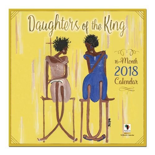 "Office Products : African American Expressions - 2018 Daughters of the King 16 Month Calendar (12"" x 12"") WC-169"