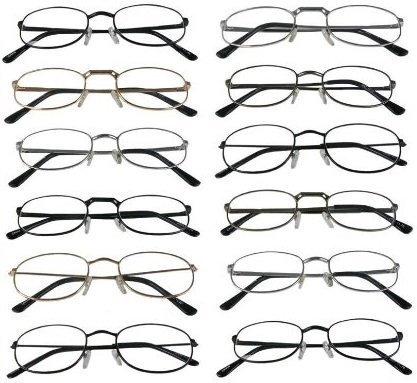 Mr. Reading Glasses [+4.00] Metal Frame Assorted Style and Color Unisex 12 Pack of Reading Glasses - Wholesale Lot of 12 Pairs - Metal +4.00 Power ()