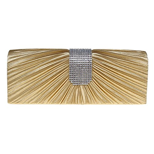 Rhinestone Women Wedding Evening Prom Silver Gold Bag Handbag Bridal Purse Clutch Satin Dabixx E1qZfSqU