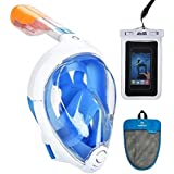 Tribord/Subea Easybreath Full Face Snorkel Mask (2018 Version) with Advsea Waterproof Phone Case