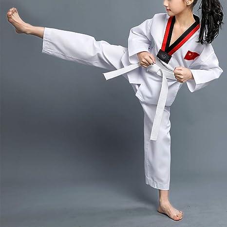 Amazon.com: Uirend - Traje de uniforme de taekwondo para ...